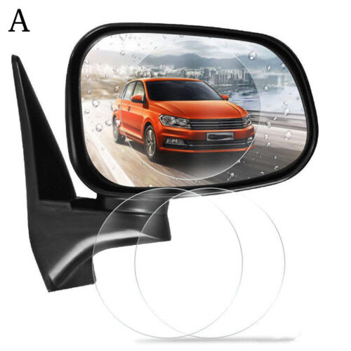 2Pcs Car Rearview Mirror Waterproof Membrane Anti-fog Anti-Glare Film