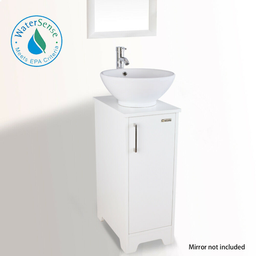 Ceramic Vessel Sink Set Faucet
