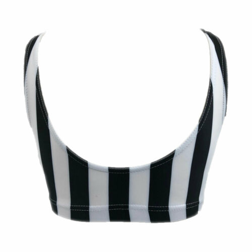 NEW  Starlite Calaboose Crop Top Black and White Stripe    SALE LIMITED TIME