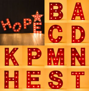 Image Is Loading Glitzhome Retro Marquee Led Light Up Letter Signs