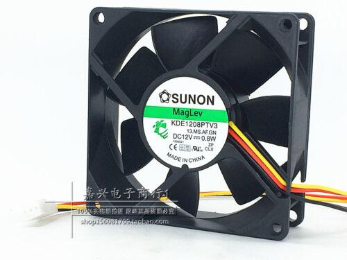 for 1pc SUNON 8025 KDE1208PTV3 fan DC12V 0.8W 3pin