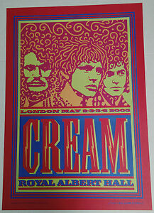 eric clapton cream royal albert hall reunion2005 poster. Black Bedroom Furniture Sets. Home Design Ideas