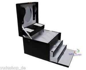 Schmuckkasten Schmuckkoffer Mit Uhrenkissen Schwarz Nr: 82032 Von Der Konsumierenden öFfentlichkeit Hoch Gelobt Und GeschäTzt Zu Werden