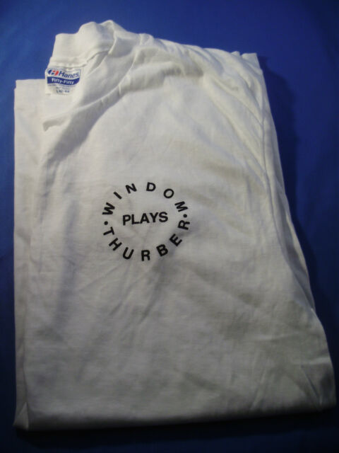 WILLIAM WINDOM COLLECTION ~ WINDOM PLAYS THURBER Commemorative T-SHIRT Lg (9)
