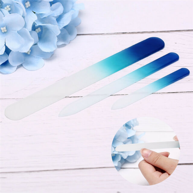 3pcs Durable Glass Nail File Buffer Nail Files Manicure Tool Nail Art Tools Fr