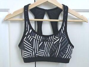 42 Nwt Womens Xs Kyodan Sports Bra Black White Amp Gray Ebay