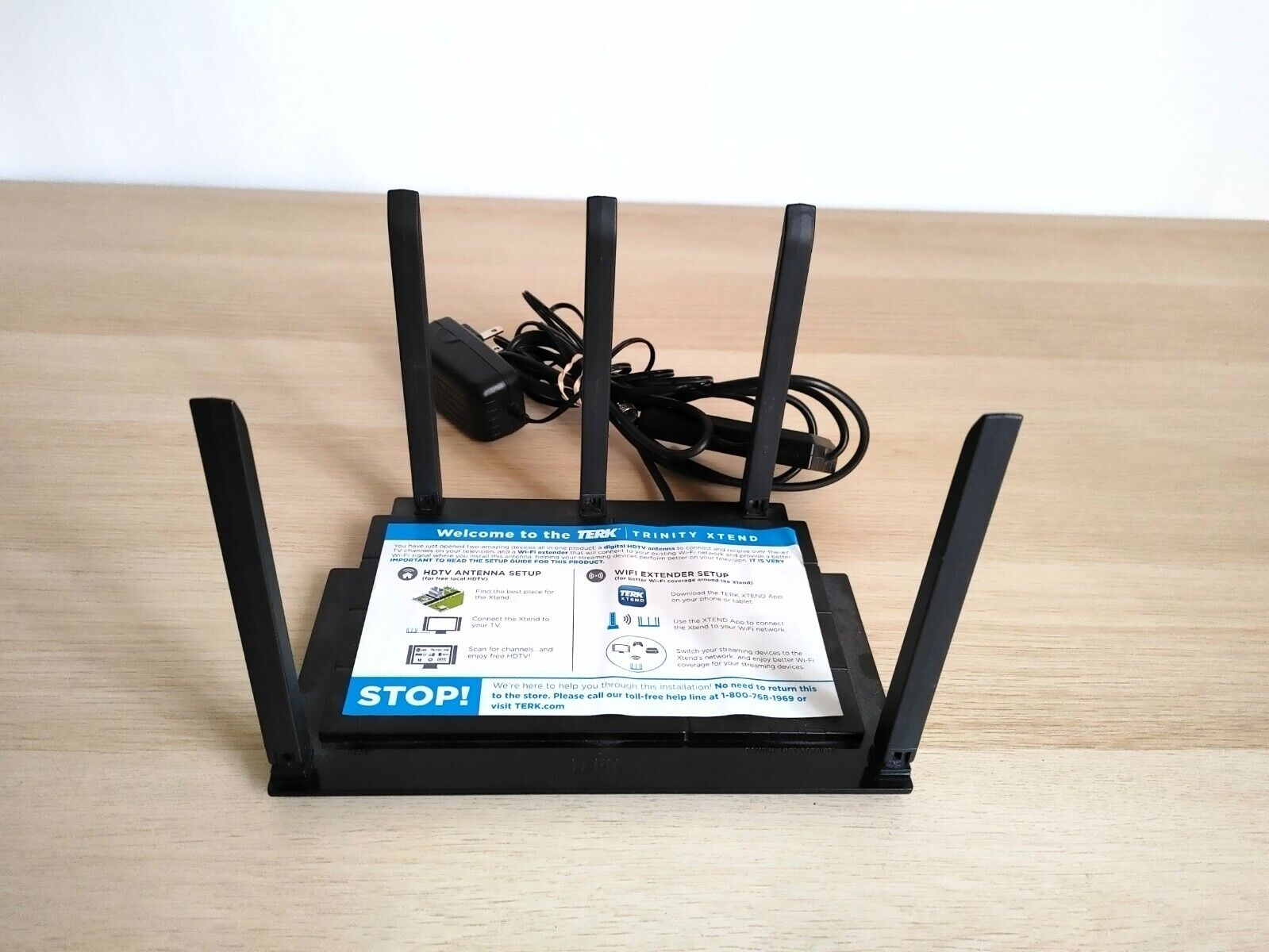 Terk Trinity xtend Amplified Indoor HDTV Antenna With WiFi Extender. Available Now for 34.99