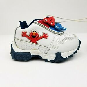b5d7a71e3b636 Details about Plaza Sesamo Sesame Street Elmo, Baby Shoes Toddler Size 2,  Sneakers, LNC