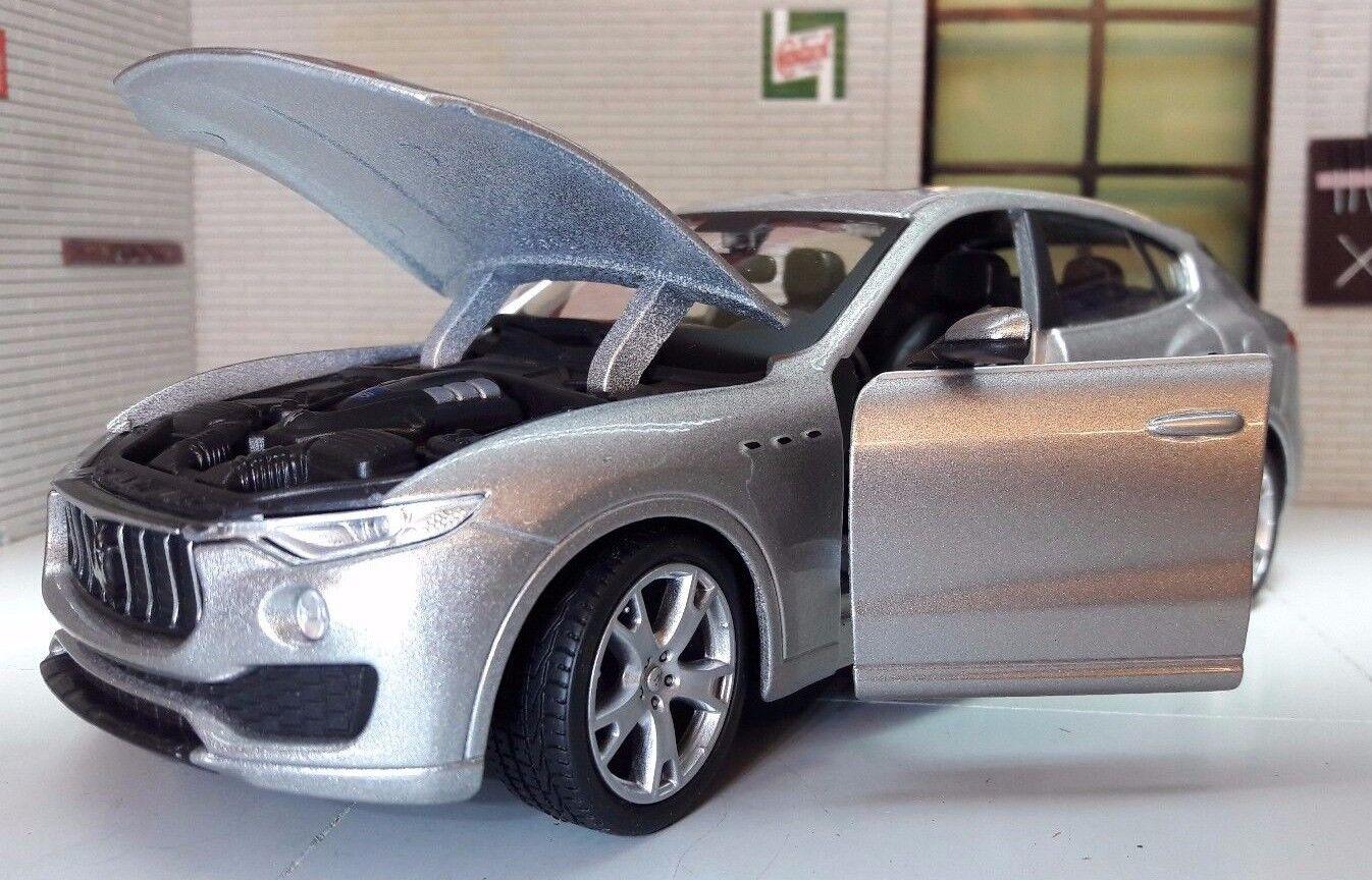 1 24 Scala Maserati Levante S 4x4 V6 V8 Pressofuso Dettagliato Vettura Burago