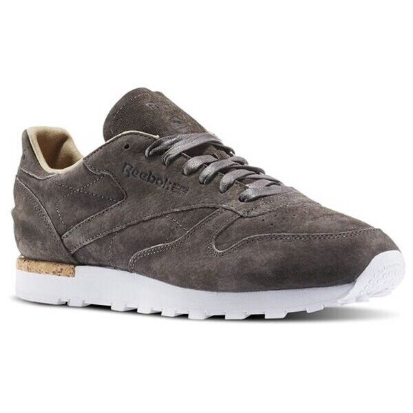 """clear and distinctive the latest best deals on Reebok Classic Leather """"LST"""" Men's 11.5 Urban Grey/Stone/White Sneakers  Shoes"""