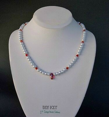 Marseille ~ Crystals Pearls Jewelry Making DIY Supply Necklace Kit Instructions