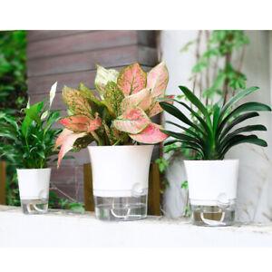 Creative-Self-watering-Plant-Flower-Pot-Wall-Hanging-Plastic-Planter-Home-Garden