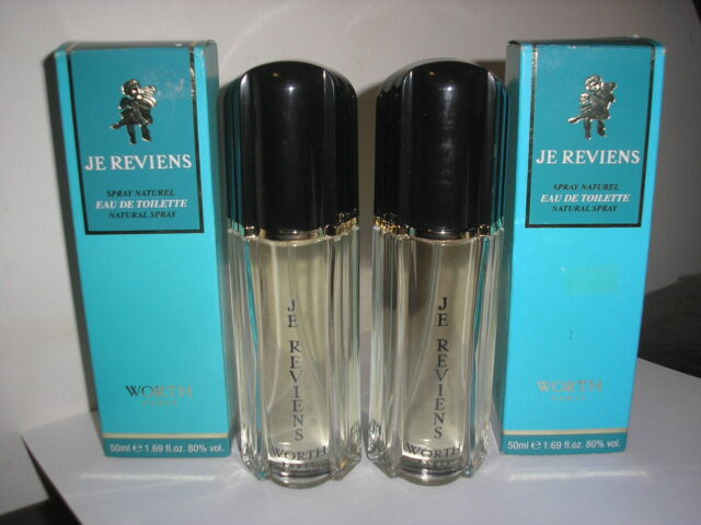 Lot of 2 Worth Je Reviens 1.69 oz  each Women's Eau de Toilette spray