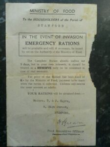 Original-WW2-Ministry-of-Food-Emergency-Rations-Leaflet-Stamford-Lincolnshire