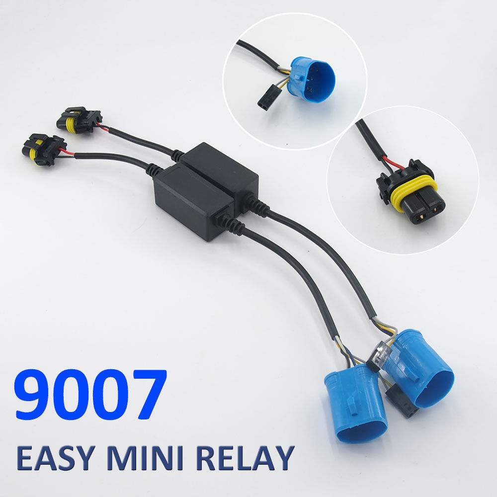 Easy Relay Harness For H4/H13/9007 Hi/Lo Bi-Xenon HID Bulbs Wiring  Controller