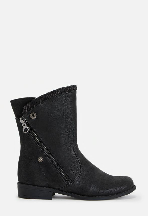 Just Fab ADELAID Lined Ankle Turn Down Boots rrp£57 UK3.5 EU36 LG02 69 SALEw