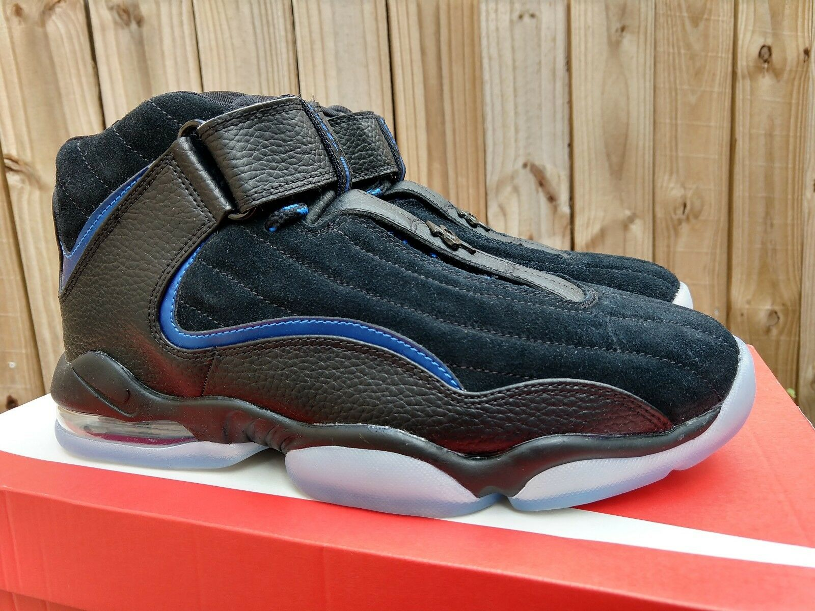 Nike Air Penny IV 4 Basketball shoes SZ 8 Black blueee