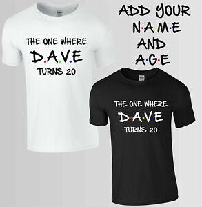 Personnalise-de-celui-ou-T-shirt-amis-cadeau-d-039-anniversaire-enfants-amp-adultes-TOP