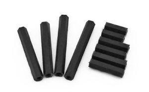 Nylon-Hex-Column-Female-Spacer-Threaded-Hex-Standoff-Support-Black-M2-M2-5-M3-M