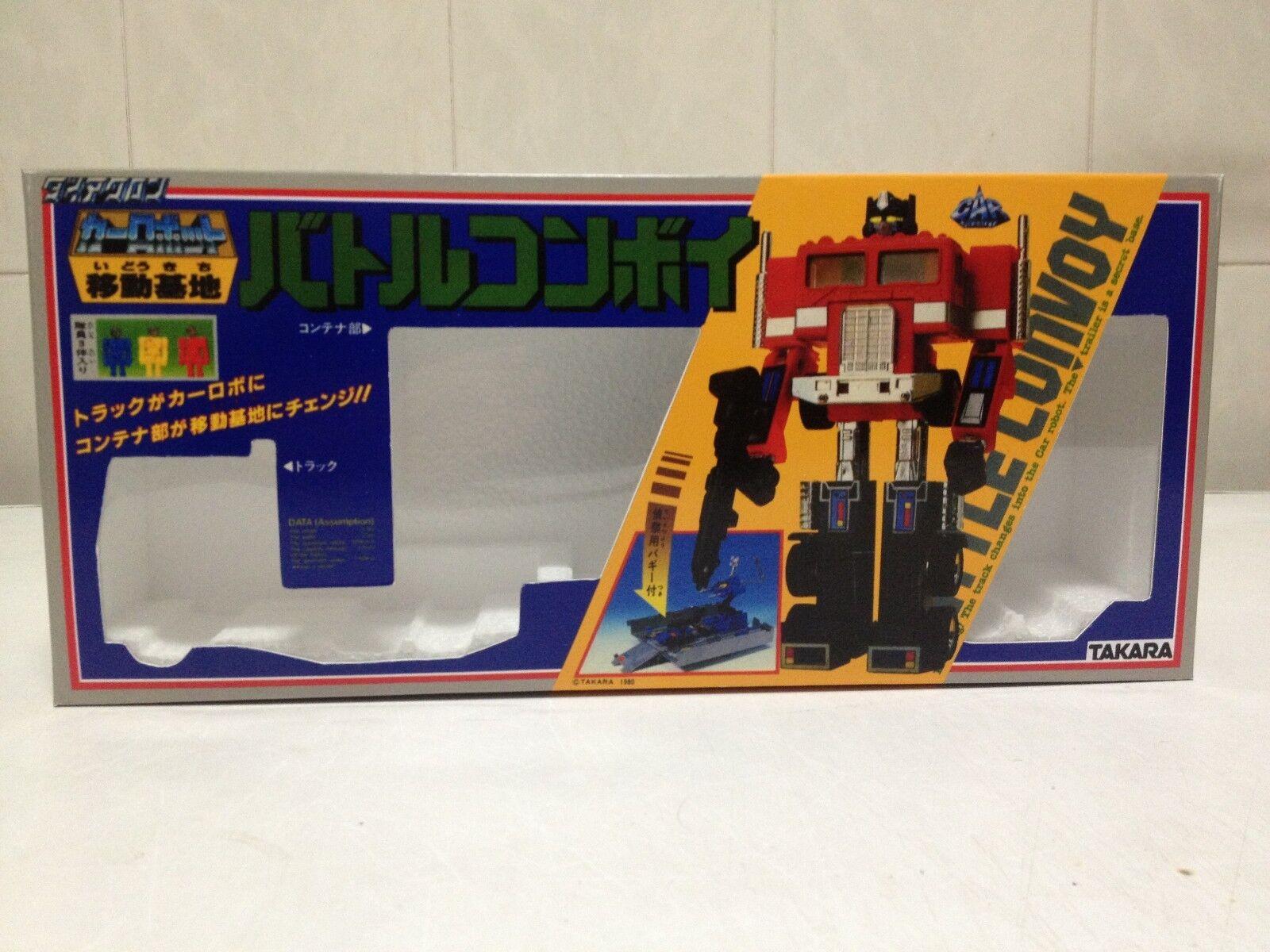 Transformers G1 Convoy Optimus Prime Box and Styrofoam Custom