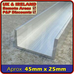 "Aluminium Channel║1.75"" x 1""║(C U section, gutter, profile,edging,alloy)"