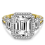 thumbnail 2 - 4.50 Ct Emerald Moissanite Anniversary Wedding Ring 18K Solid Yellow Gold Size 7