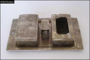 WW2-VINTAGE-TOBACCO-SMOKING-METAL-SET-OCCUPIED-JAPAN