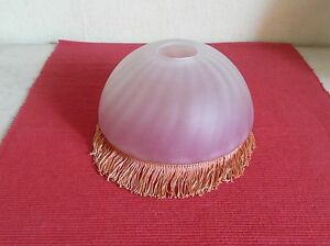 Abat-jour-opaline-verre-lustre-lampe-petrole-lampe-electrique-135-mm-N-151