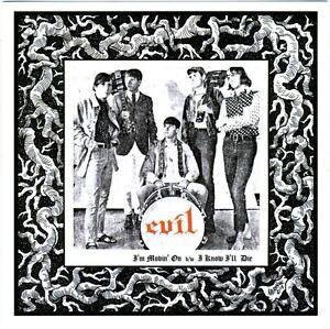 EVIL-I-039-m-Movin-039-On-vinyl-7-034-NEW-unreleased-savage-039-66-garage-punkers
