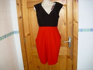 CLOSET-Womens-black-and-red-dress-size-14-BNWT-new-with-tags