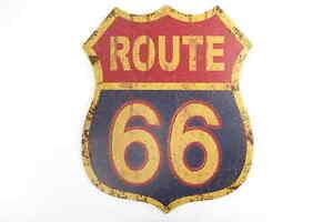 Reklame & Werbung Neue Mode Blechschild Xxl Route 66 Garage Partykeller Usa Harley Davidson Dekoration Rute Supplement Die Vitalenergie Und NäHren Yin