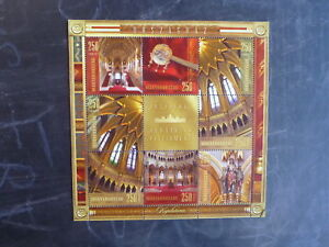 2013-HUNGARY-ART-IN-PARLIMENT-BUILDINGS-8-STAMP-MINI-SHEET-USED