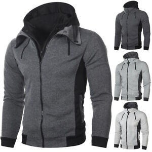 Winter-Fashion-Men-039-s-Hoodie-Hooded-Sweatshirt-Coat-Jacket-Outwear-Jumper-Sweater