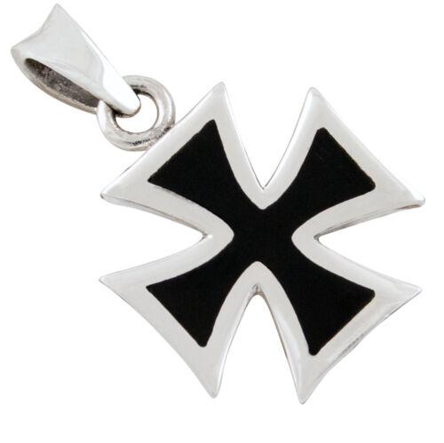 Eisernes Kreuz Anhänger Silber 925 Iron Cross Bikerschmuck b484