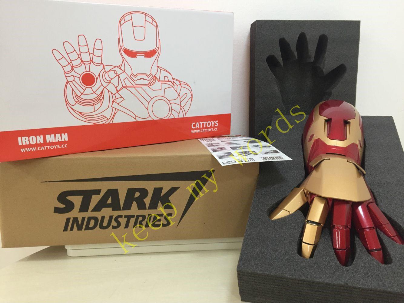 Avengers Film Iron Man Man Man Tony Stark Marke 42 1:1 ABS Hand Rüstung Auto Hell Laser f53225