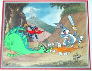 SIGNED FRIZ FRELENG Bugs Bunny Dragon Warner Brothers Limited Edition Cel FRAMED