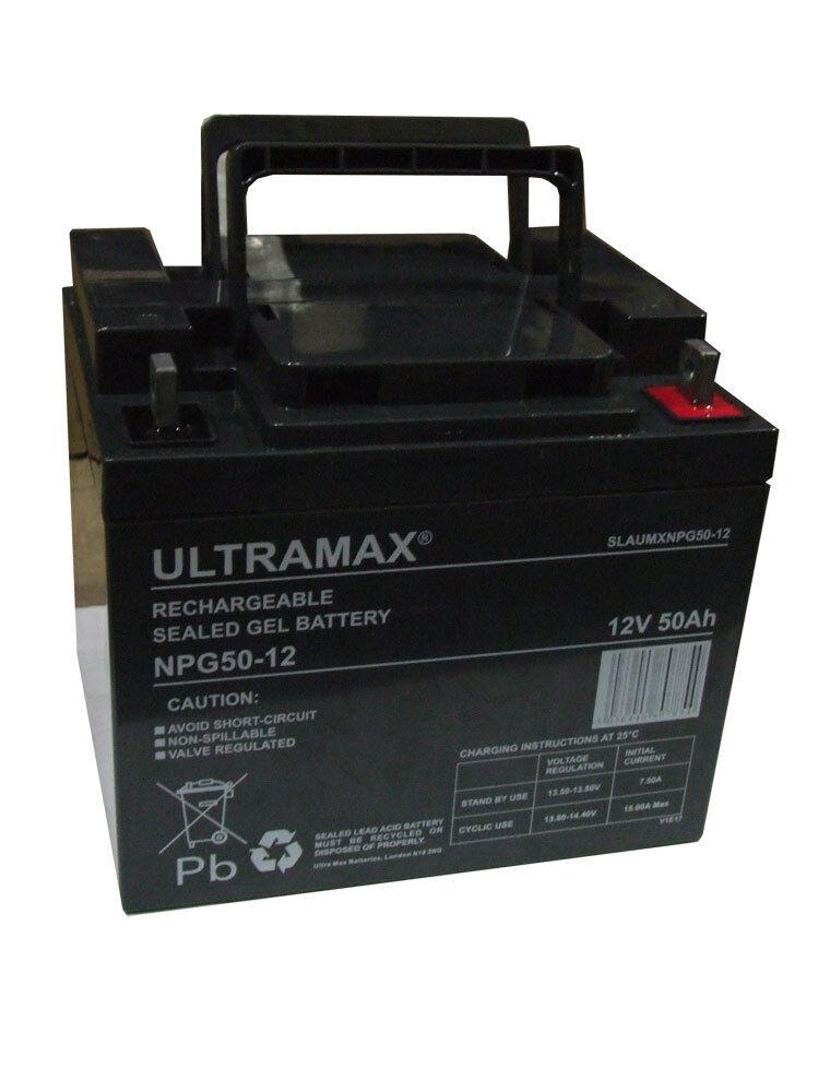 ULTRAMAX NPG50-12 12V 50Ah AS 40Ah & 45ah Notfall- Licht Beleuchtung