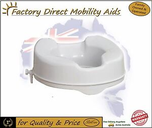 Raised-Toilet-seat-4-034-100mm-Without-Lid-easy-clip-on