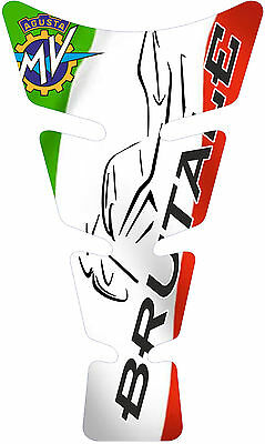 MOTORCYCLE TANK PAD PROTECTOR SHIELD MV AGUSTA BRUTALE ITALIAN FLAG