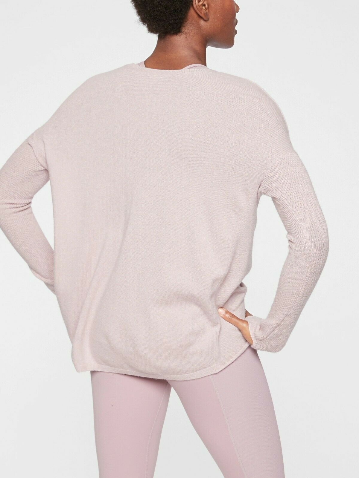 Athleta Finale Wool Cashmere Congreenible Sweater, Dove SIZE SIZE SIZE S      N0302 c32b98