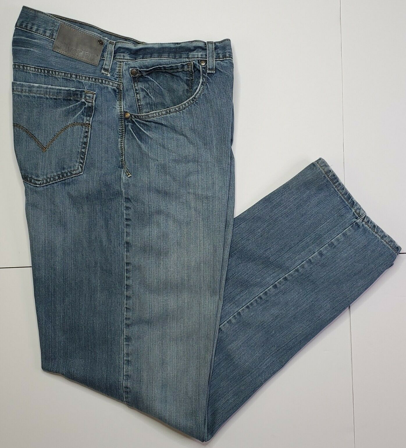 Vintage Levis Silvertab Baggy Straight Jeans 36x3… - image 1