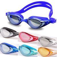 Adult Waterproof Anti-fog UV Protection Adjustable Swimming Googles Glasses