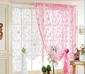 schmetterling t rvorhang fenster vorhang t r fadenvorhang farbwahl 200x100cm ebay. Black Bedroom Furniture Sets. Home Design Ideas