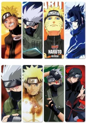 Naruto Anime Double Sided Plastic 8 Piece Bookmark Set