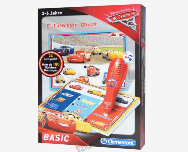 Clementoni E-Lektor Basic Cars 3 Quiz Stift Lernspiel Disney Pixar Mcqueen 59026