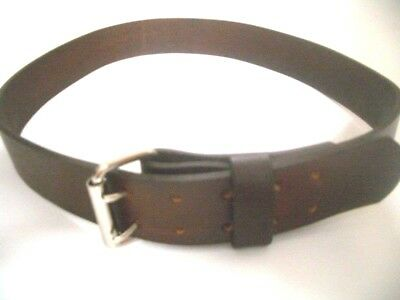 """2.1//2/"""".W .THICK HEAVY DUTY HAND MADE LEATHER WORK GUN TOOLS HOLSTER 2 PRONG BELT"""