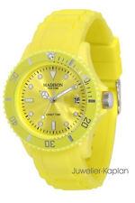 Madison New York PASTELL U4167-21 Sorbet Gelb Damen Herren Uhr Silikon neu
