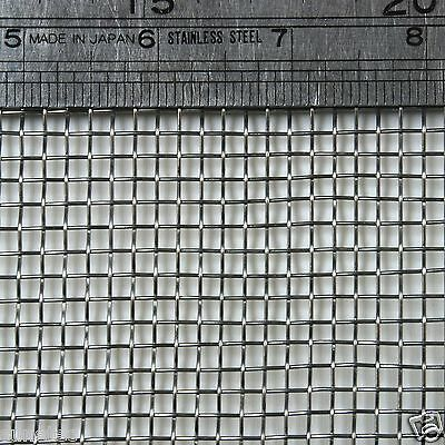 "Stainless Steel  Woven Wire Mesh 6 mesh 6"" x 6"" Type 304 (filter grading sheet)"
