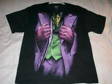 The Joker Outfit Batman The Dark Knight Movie DC Comics Black Tshirt Mens XL New