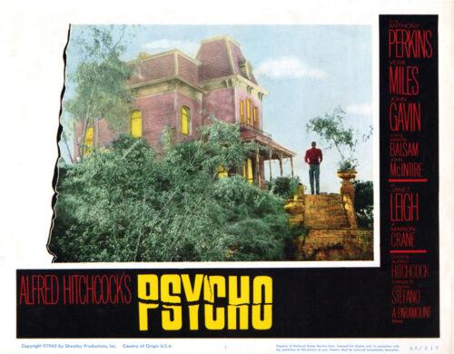 "Psycho Lobby Card Replica Photo Print 14 x 11/"""